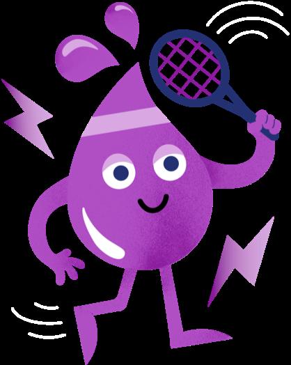 Bitsy's Pink Lemonade Swish character