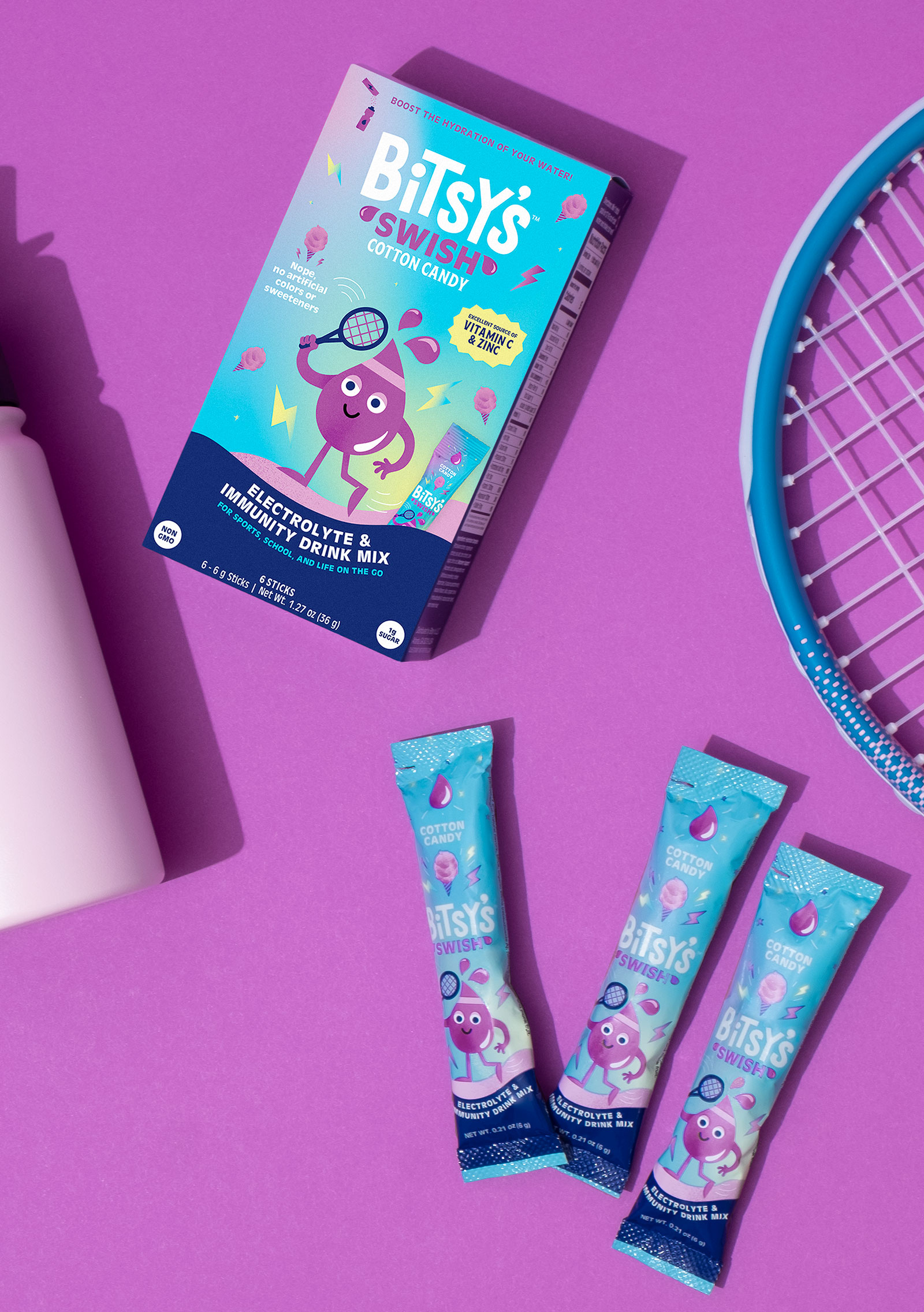 Bitsy's Swish packaging in a lifestyle photo