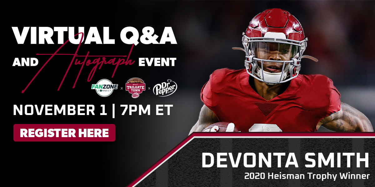 FanZone Connect Virtual Q&A and Autograph Event   November 1 at 7PM ET with Devonta Smith   Register Here