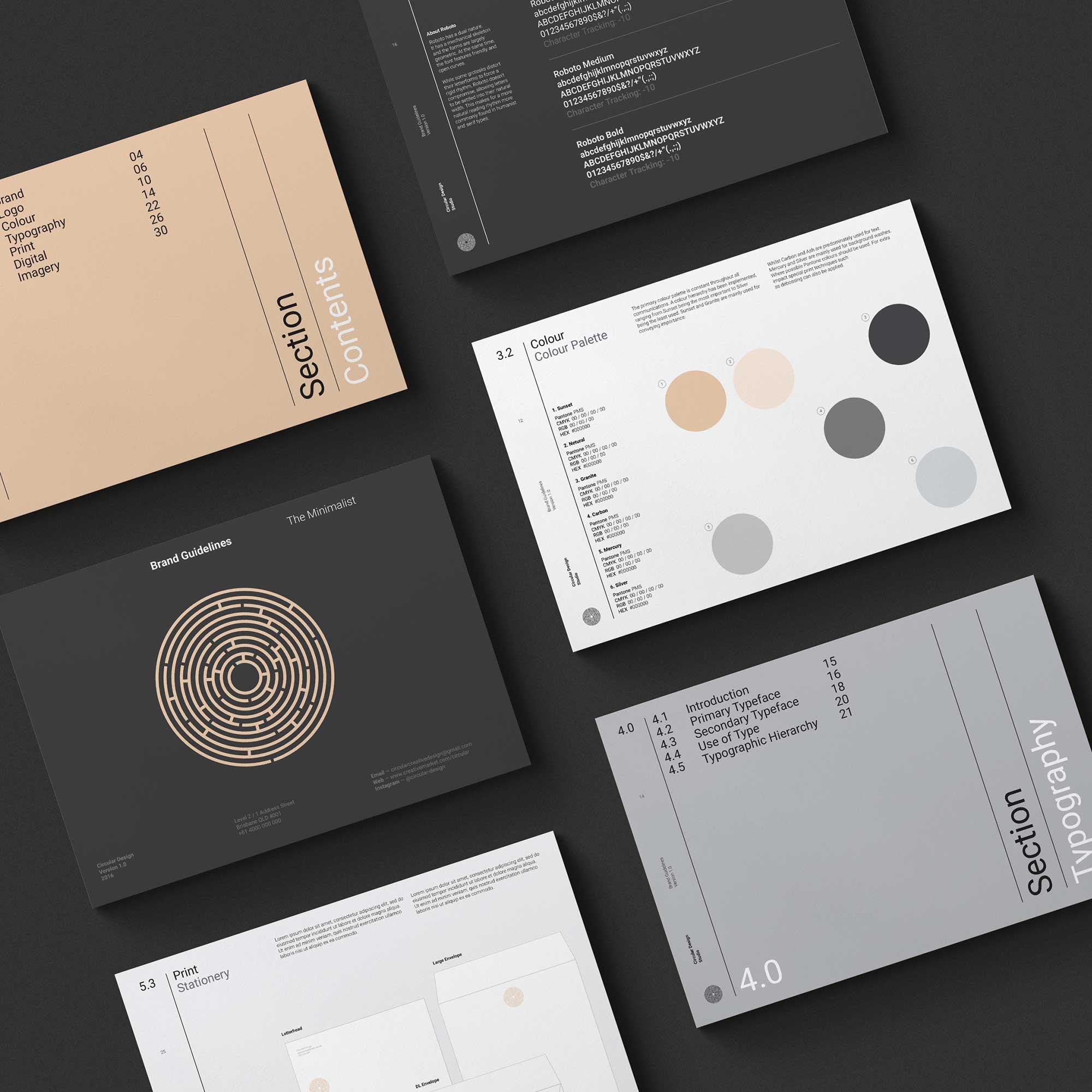 Minimalist Brand Guidelines - Landscape
