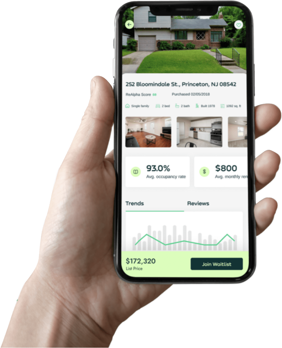 ReAlpha Members: Get exclusive access to most viable Airbnb properties from the wholesale market using reAlpha AI. Minimize down payment to as low as $2,500 for 12.25% ownership through our syndicate member portal. Never have to touch a paintbrush, take out the trash, or talk to a guest at 3 AM. Close property in less than 30 minutes automated financing.