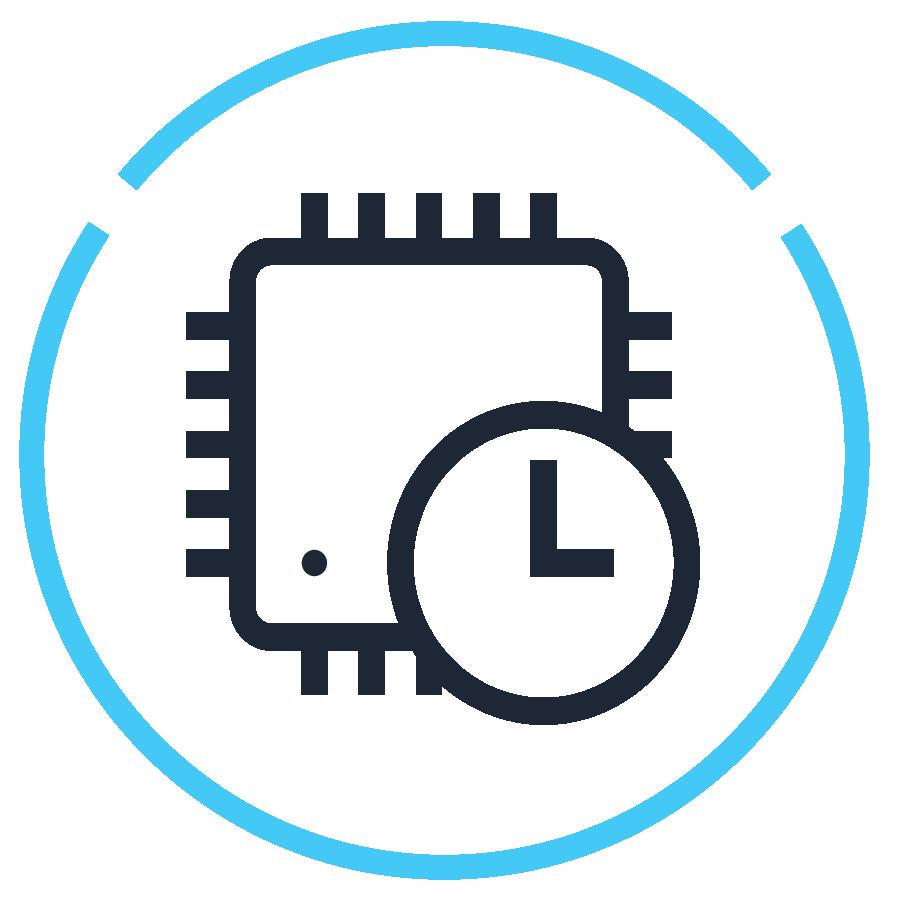 Icon - clock next to processor