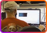 Videon team member on their computer