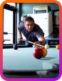 Videon team member playing pool