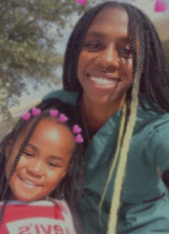 Jasmine Hopkins with her daughter