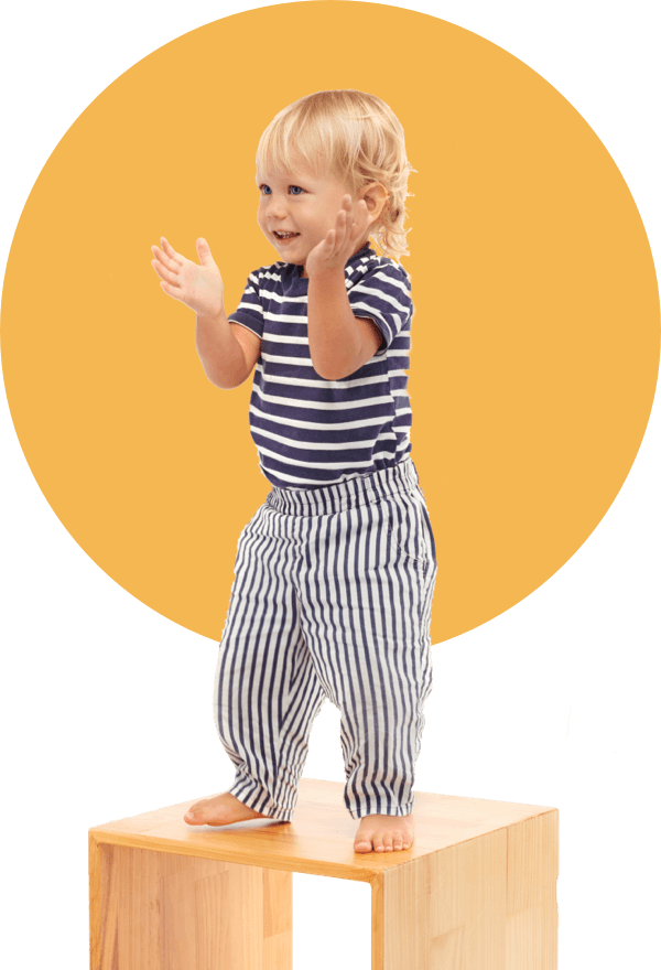 Little boy clapping at 5 star review
