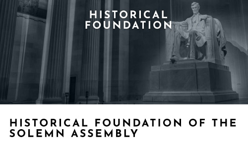 Historical Foundation Of The Solemn Assembly