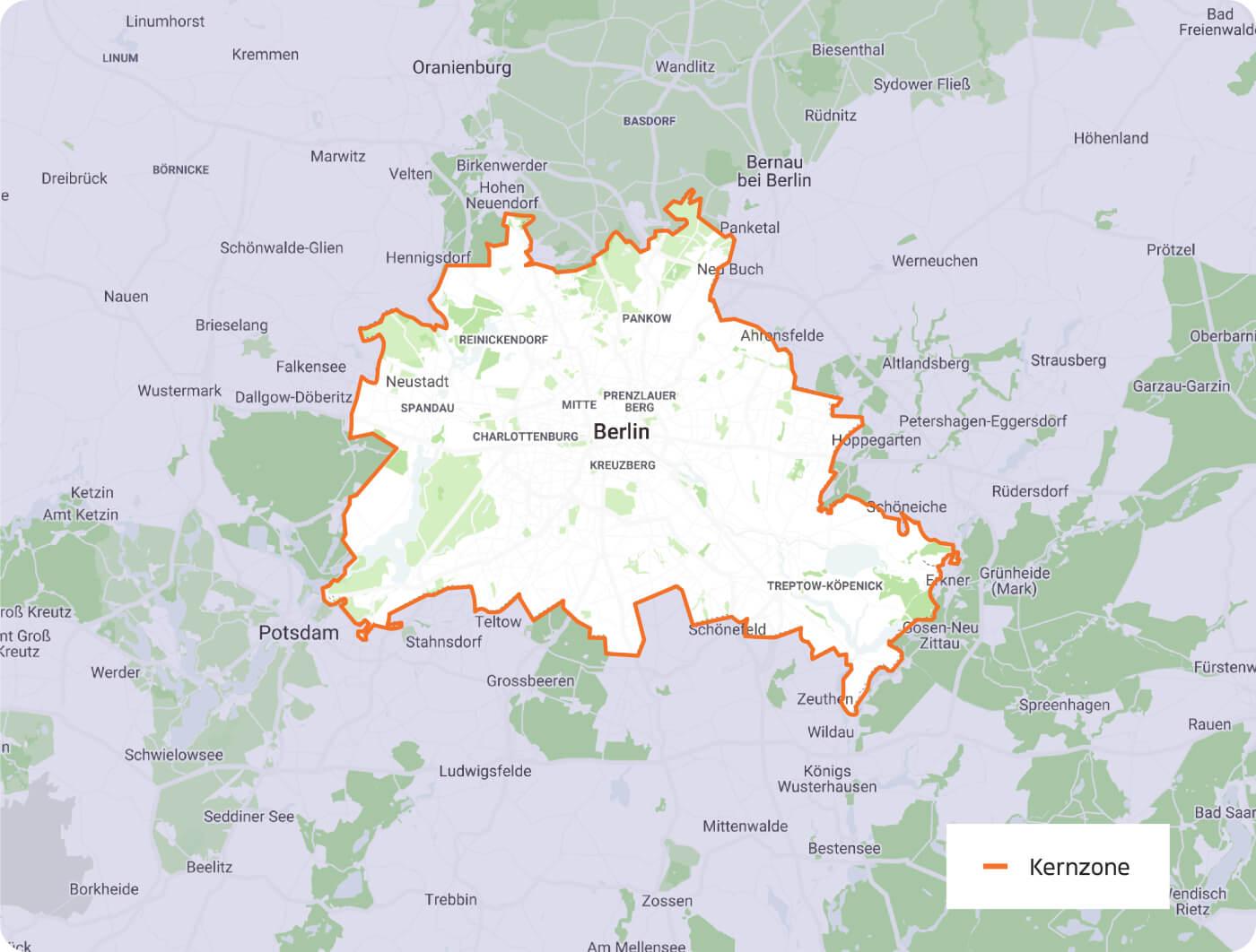 Eine Karte von Berlin