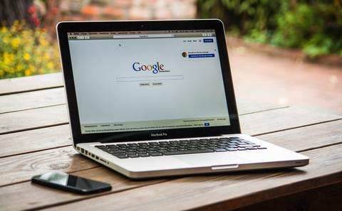 Google logo on a laptop screen