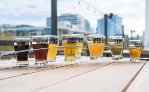 Beer tasting set up