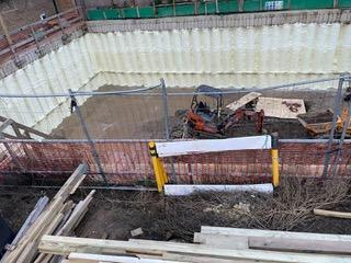 concrete pilings foam insulation