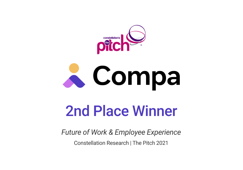 Compa Named a Winner of The Pitch 2021 by Constellation Research