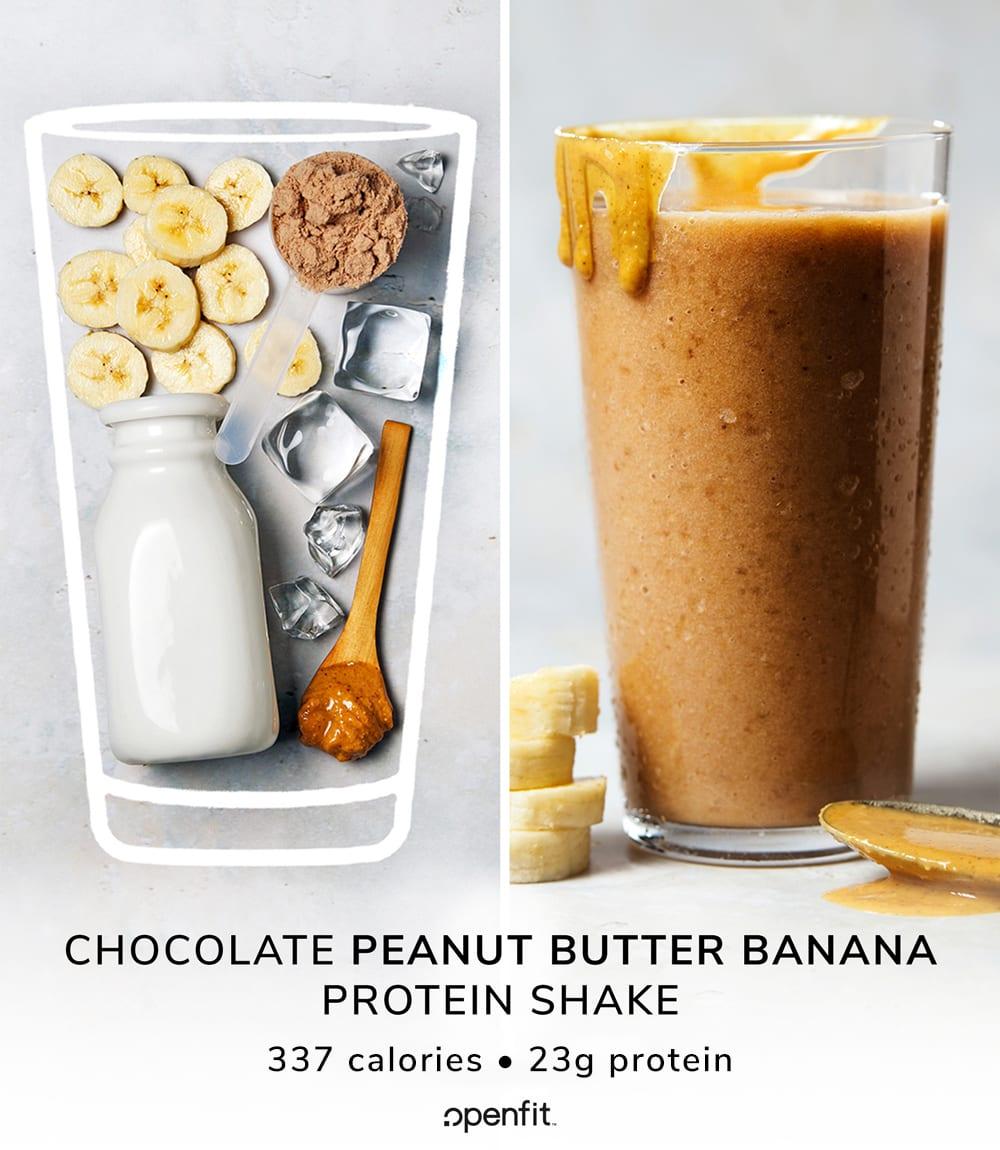 Chocolate Peanut Butter Banana Protein Shake