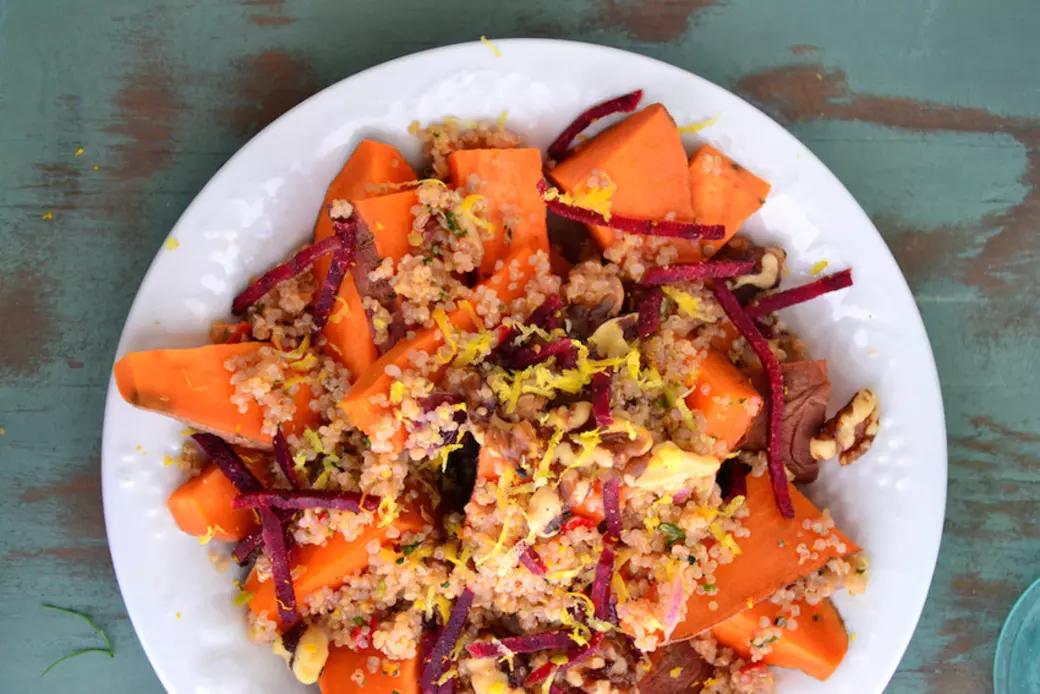 Sweet Potato Walnut Quinoa Bowl
