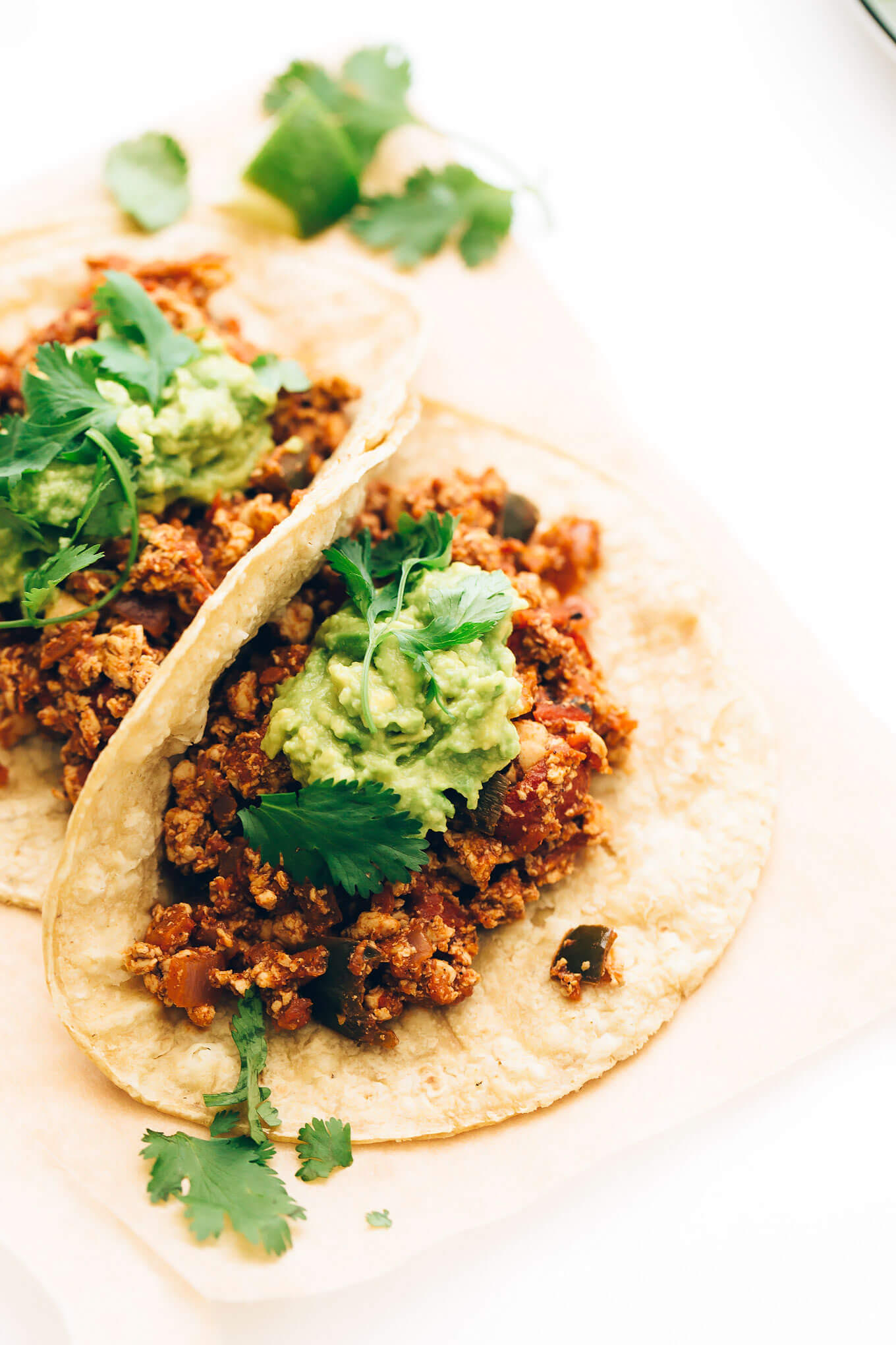 Spicy Tofu Scramble Breakfast Tacos