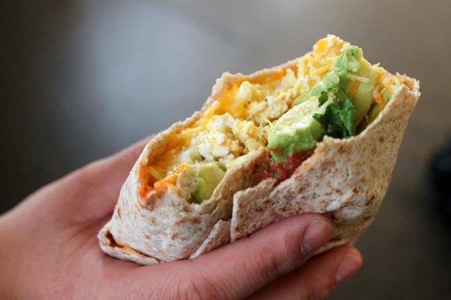 Sriracha and Egg Avocado Burrito