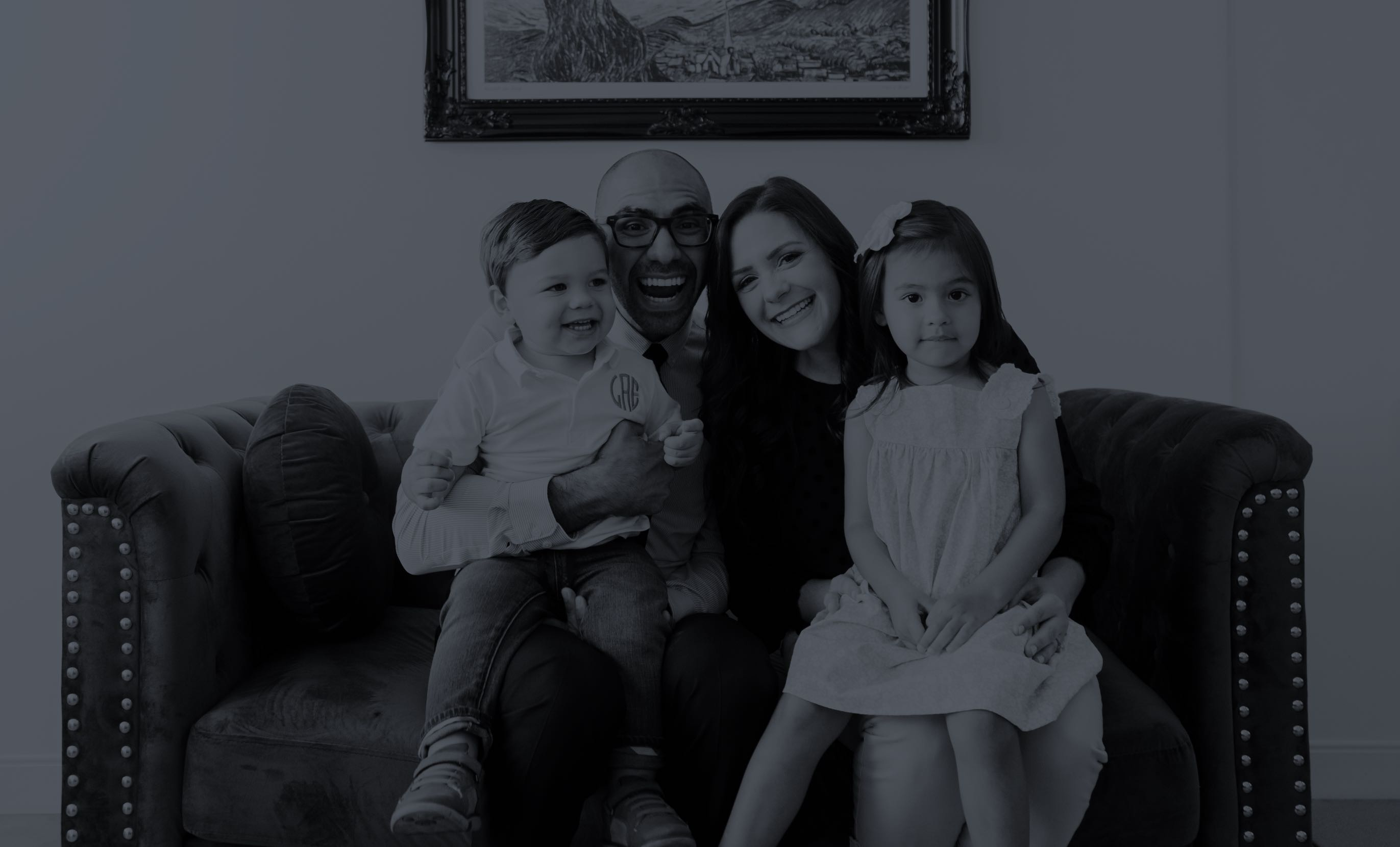 Photo of our two dentists and their children