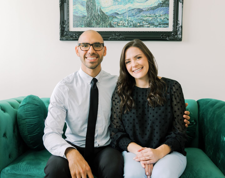Photo of Dr. Forrest & Dr. Courtney sitting together
