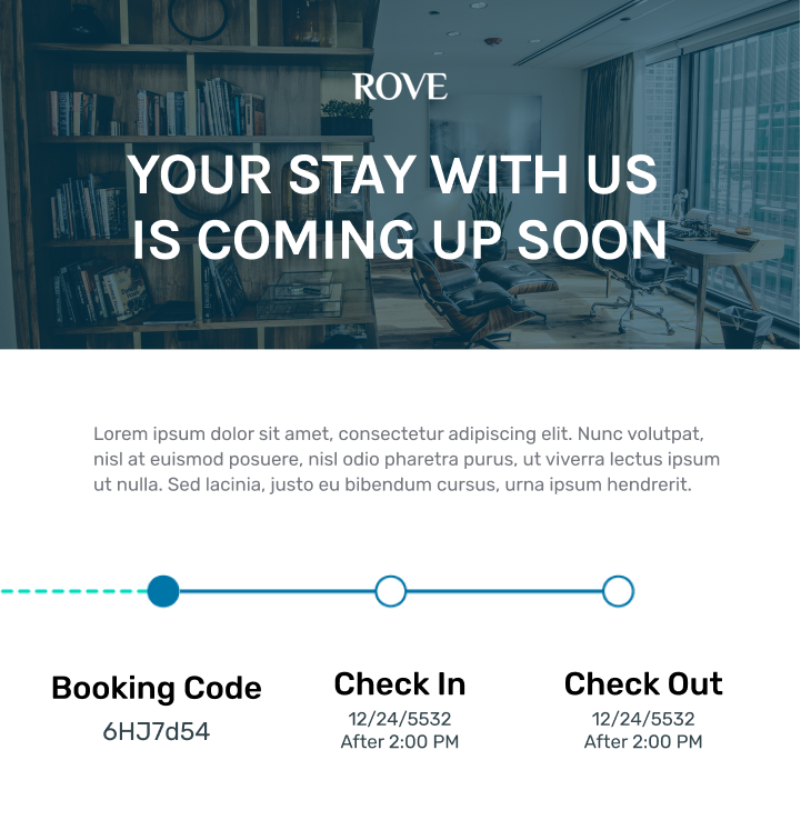 Rove marketing email example