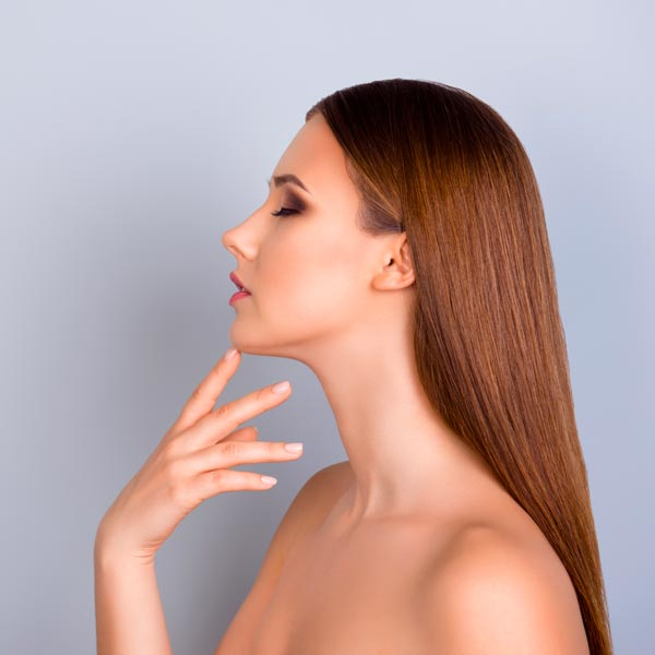 Chin enhancement on a woman in Chandler.