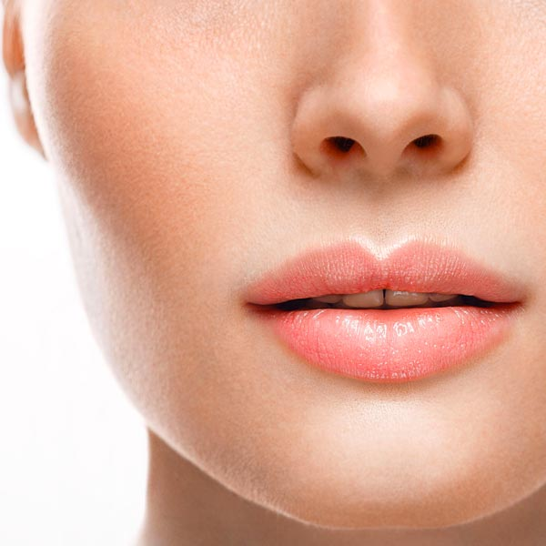 Perfect skin texture due to facial injections.