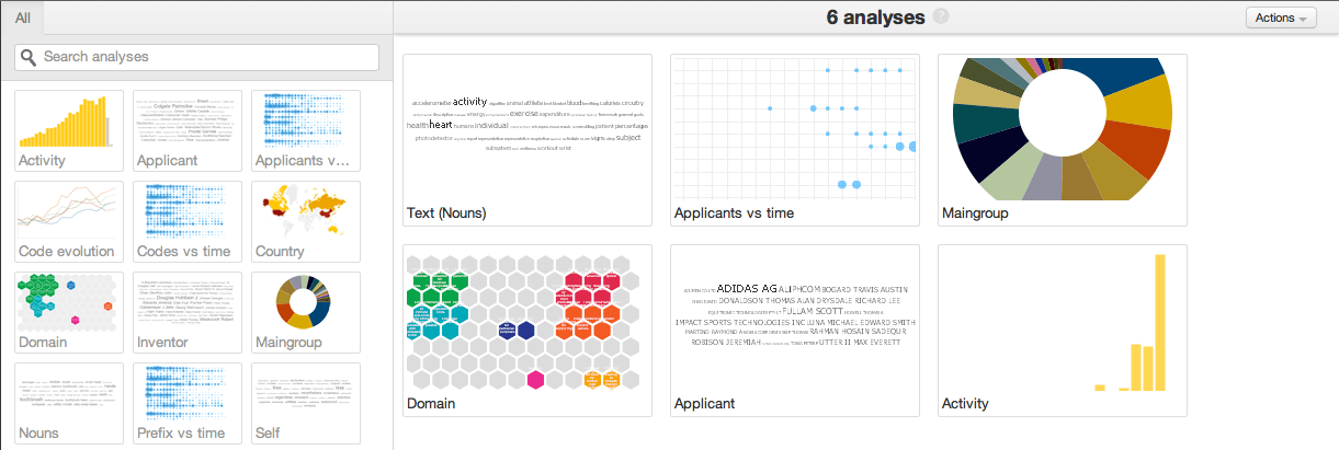 This is easily accomplished by clicking on the analysis options provided on the left-hand side of the window.