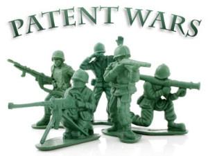 Patent wars image.