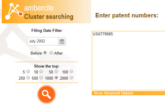 Ambercite Cluster searching feature.