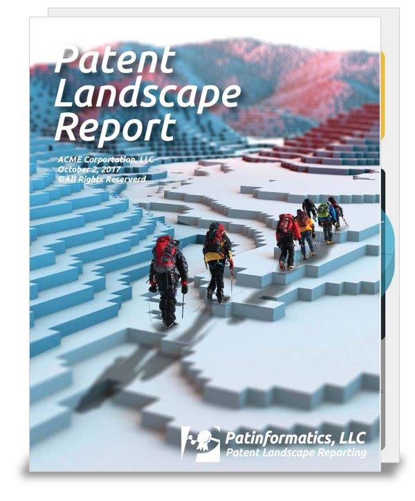patent landscape report cover