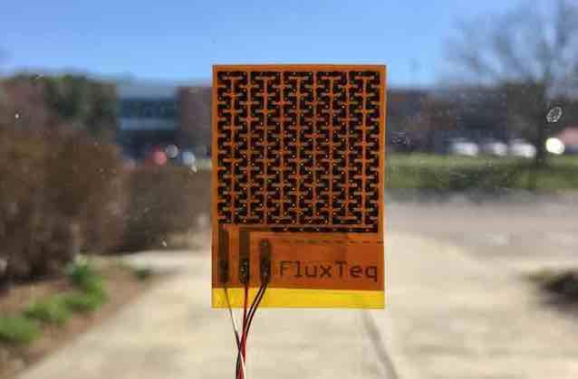heat flux sensor on window
