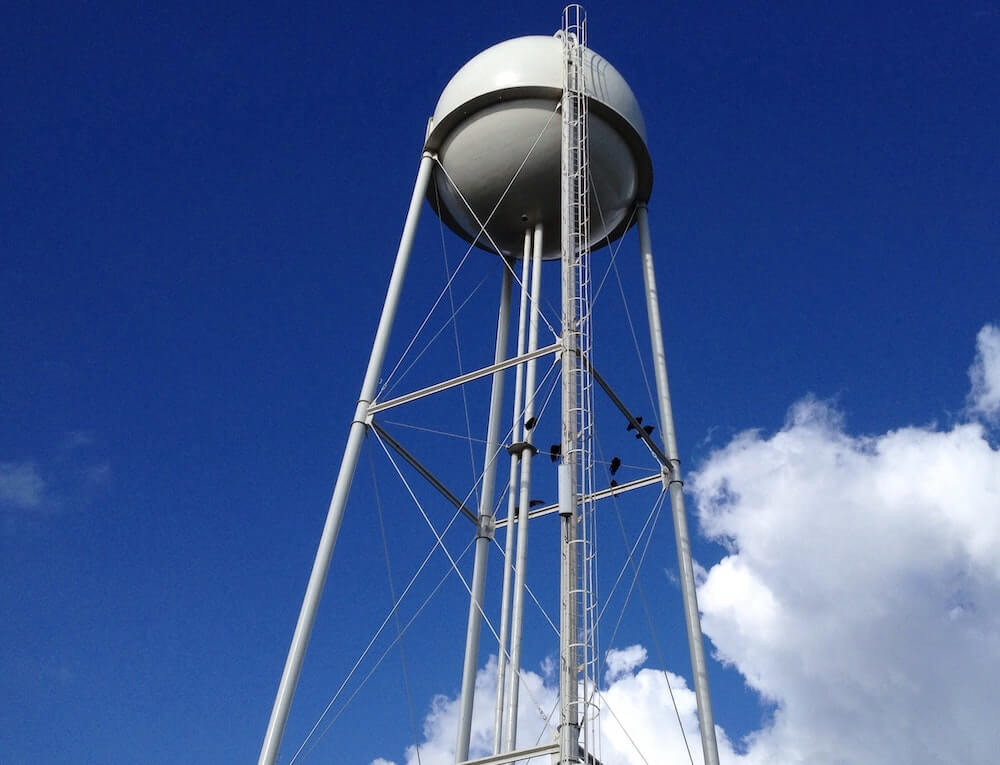 Water tower - water utility asset