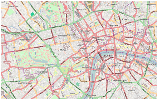 reference map of london streets