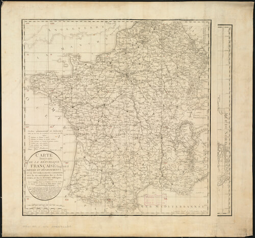 Louis Capitaine Map of France