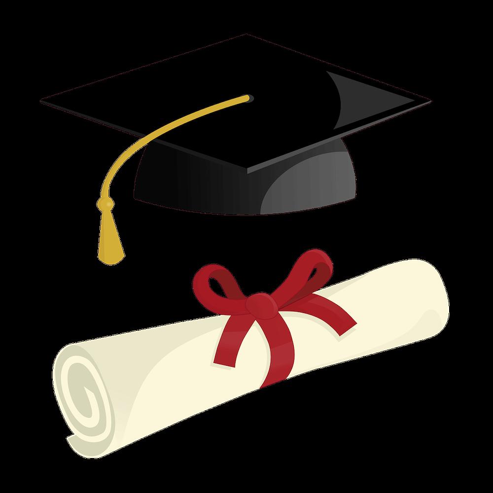 graduation hat and GIS degree