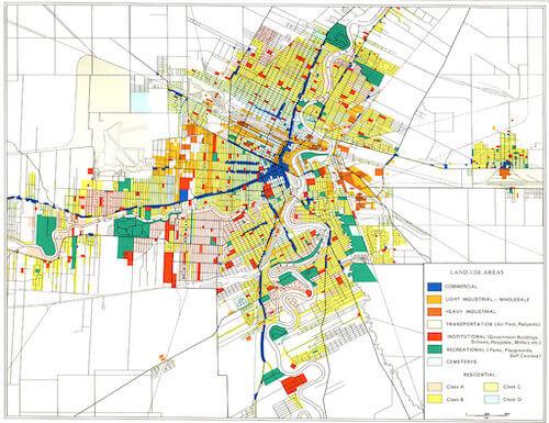 A land use map