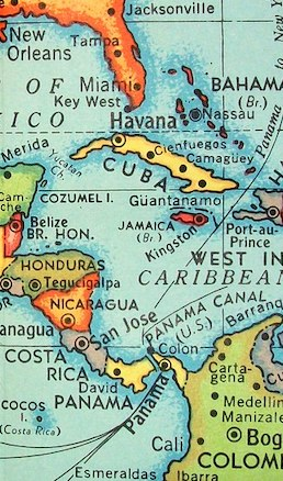 partial map of central america