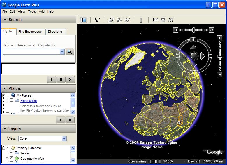 Google Earth 4 screenshot
