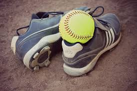 Picture of cleats and softball