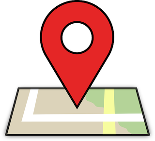 location pin on map