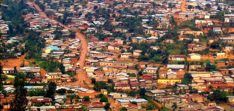 A birds eye view of Kigali, Rwanda