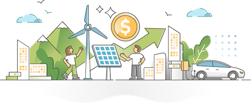 a collection of distributed energy resources