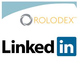 LinkedIn and Rolodex Logos