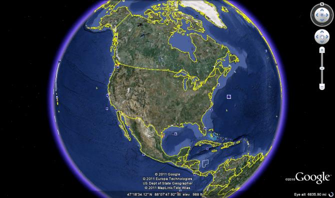 Google Earth free screenshot