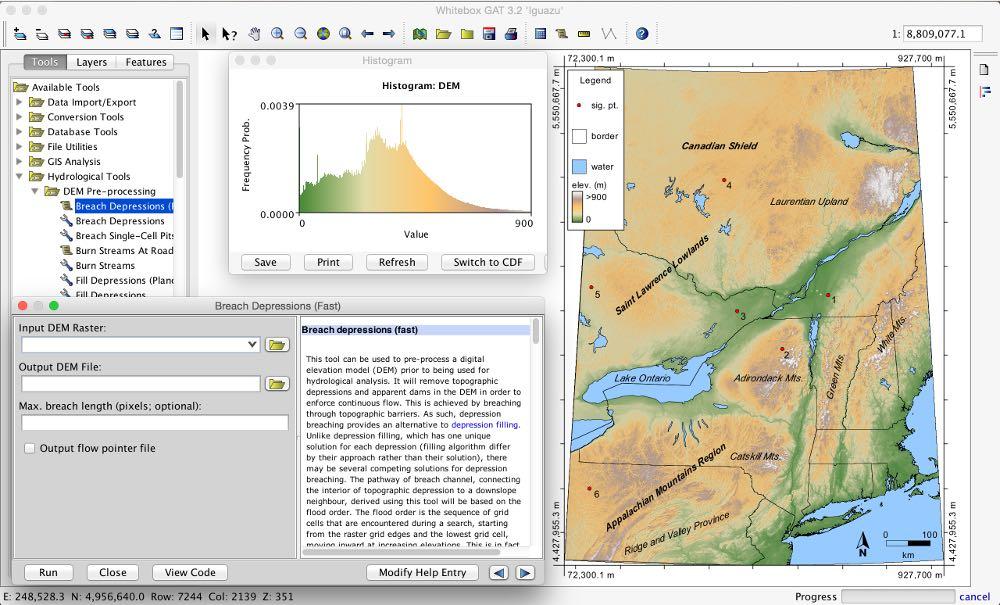 Whitebox GAT free GIS