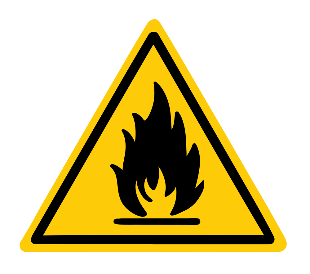 a warning sign for wildfires
