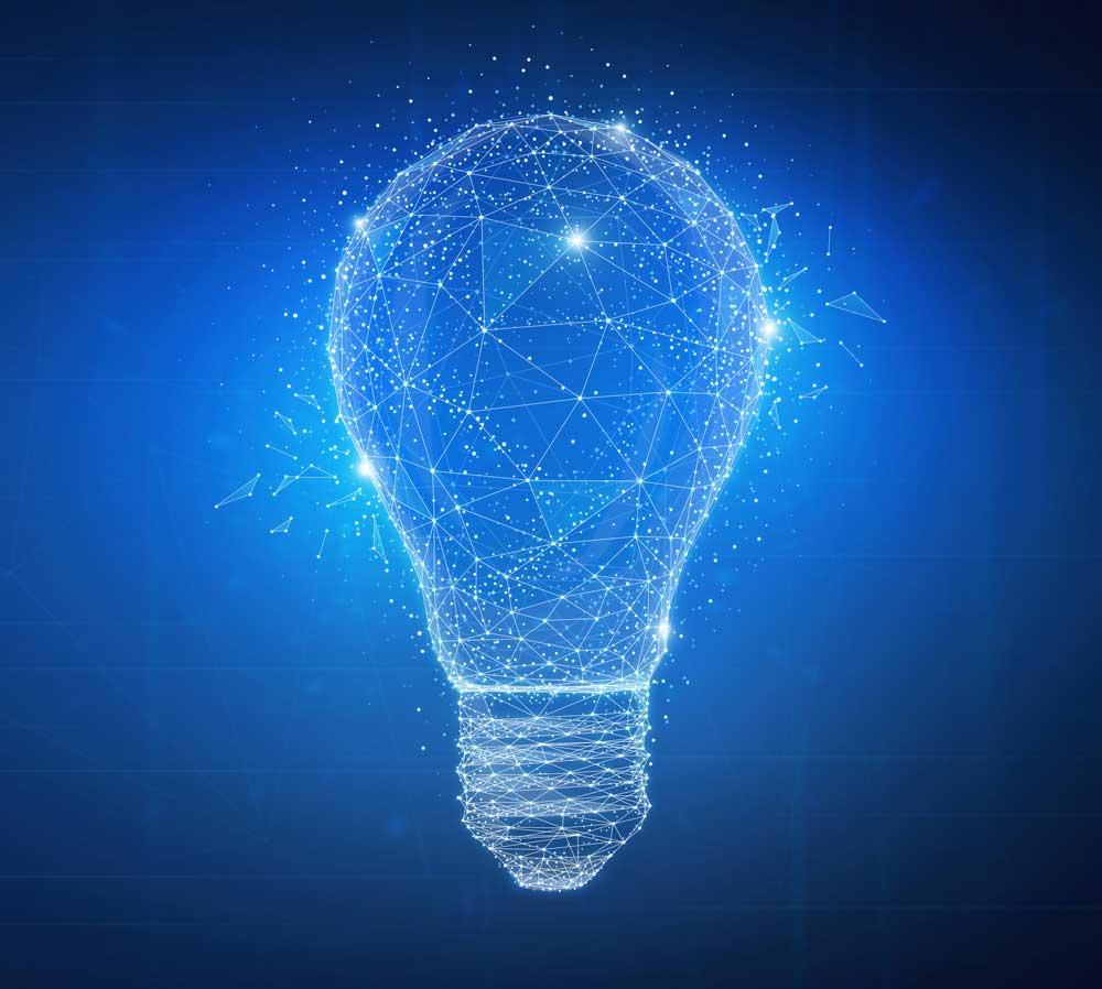 a light bulb representing innovation