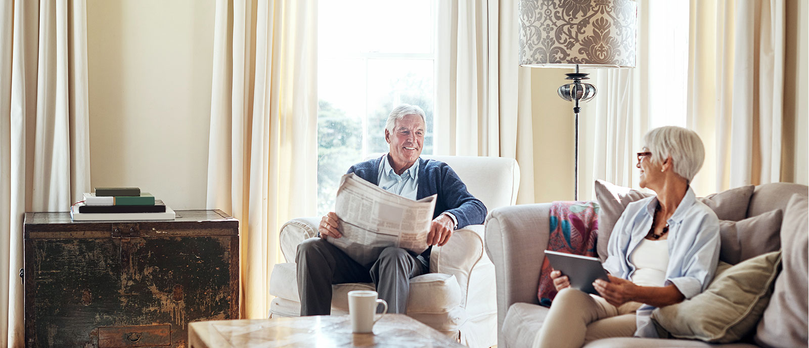 residents reading about the exciting community news, milestones, and growth