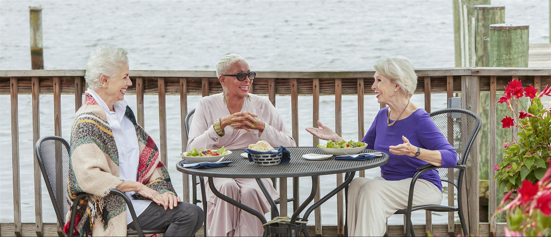friendly seniors enjoying their time at the village at providence point