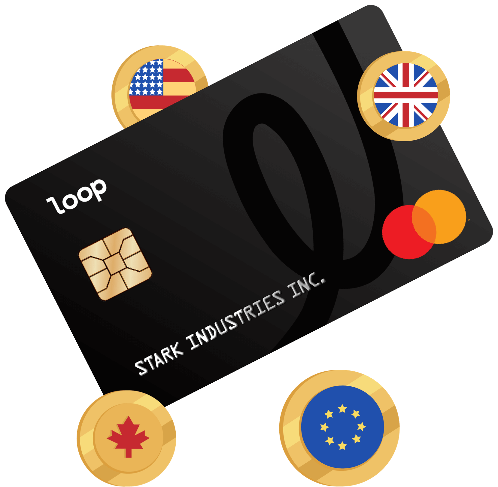 credit card with icons around