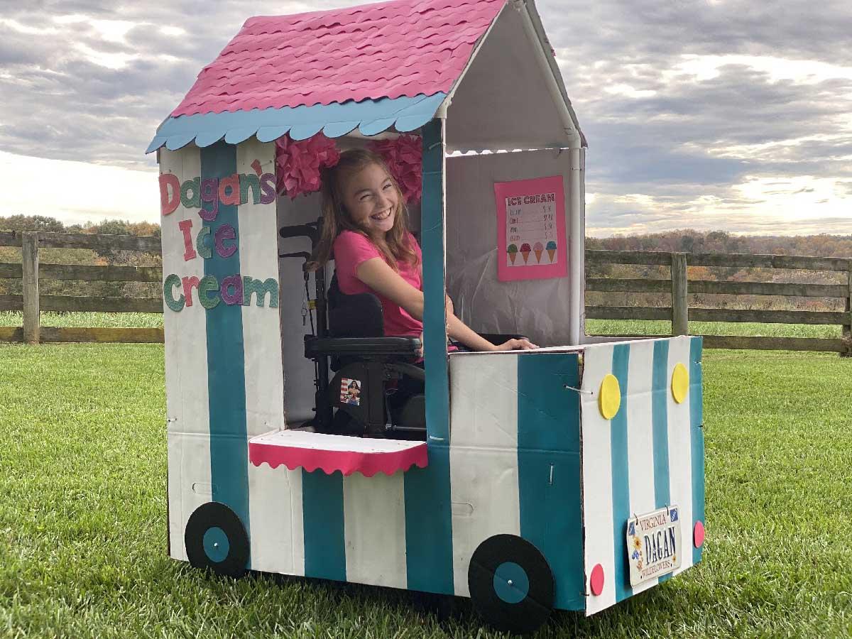 child in ice cream truck halloween costume